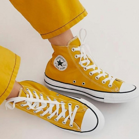 yellow high-cut converse shoes | Order